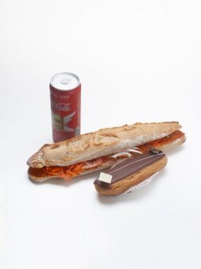 Menu sandwich + boisson + pâtisserie